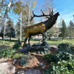 Bugling Elk statue
